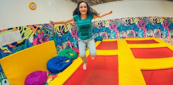 Свободные прыжки или аренда батутного парка «Кенгуру»