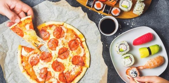 Вся пицца ияпонское меню отслужбы доставки «Эпатаж33» заполцены