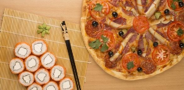 Заказ пиццы исуши-сетов отсуши-бара «Цунами» за полцены
