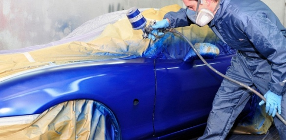 Покраска деталей автомобиля вавтоцентре Auto Zona