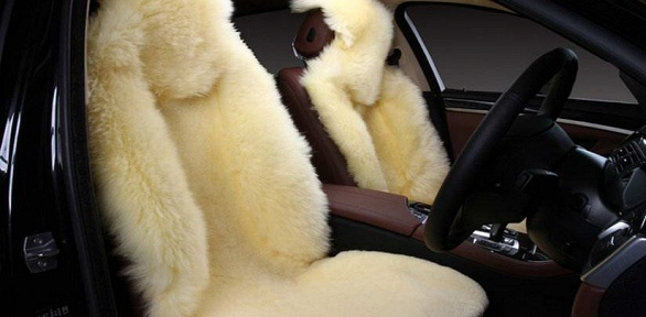 Меховые накидки изовечьей шерсти для автомобиля