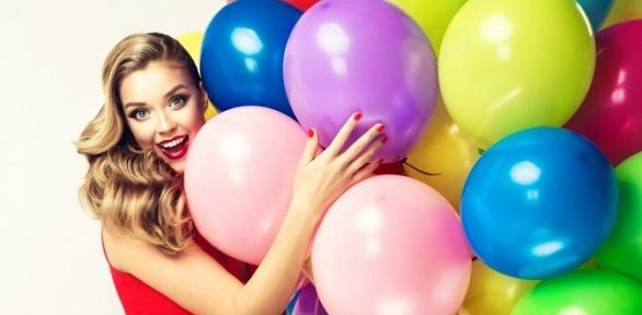 Гелиевые шары навыбор, сюрприз вкоробке, композиции из шаров