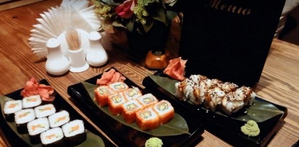 Японская, европейская кухня от«Грибоедов Hall» заполцены