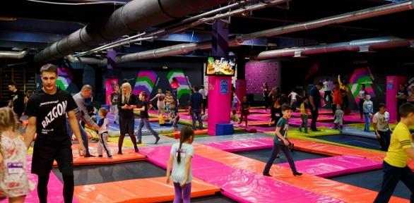 Безлимитное посещение зоны Jump или Kids впарке активного отдыха Razgon