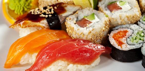 Японское меню отслужбы Sushi Delivery заполцены