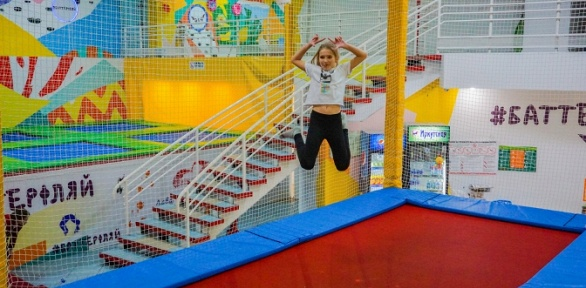1час прыжков набатуте или целый день вбатутном парке «Баттерфляй»