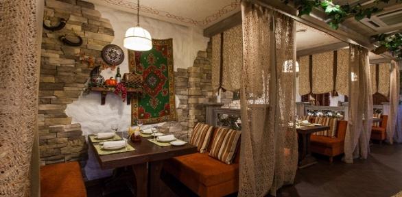 Ужин кавказской кухни вресторане «Гуливани»