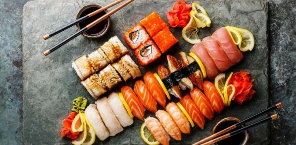 Блюда меню инапитки отслужбы доставки суши-бара Wilochka заполцены