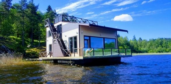 Отдых срыбалкой вдоме для отпуска HouseBoat Kovcheg