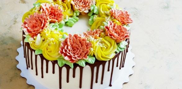 Торт скремом, фотопечатью или свадебный торт