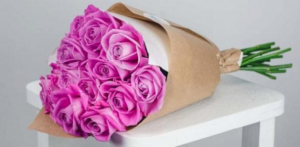 Букет из орхидей, роз откомпании Love Flovers