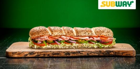 Сэндвичи инапитки вресторане Subway заполцены