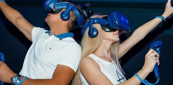 До3часов игры вшлеме виртуальной реальности вклубе Kvark