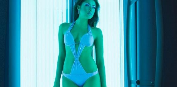 Посещение вертикального солярия встудии красоты «Богиня»