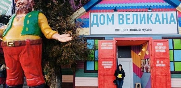 Посещение музея «Дом великана» заполцены