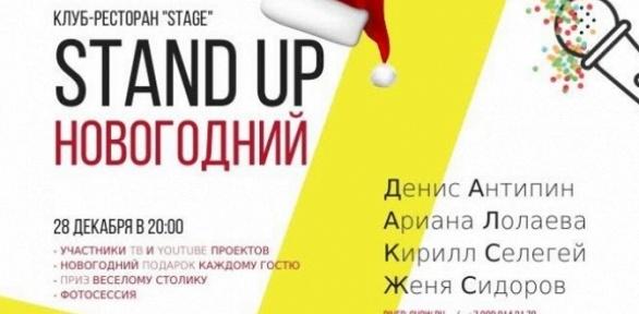 Билет наНовогодний Stand-Up откомпании River-show Moscow