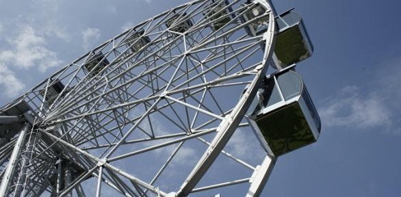 Посещение впарке Спутника аттракциона «Колесо обозрения» заполцены