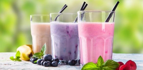 Смузи, молочный коктейль или йогурт навыбор вйогурт-баре Yogumi