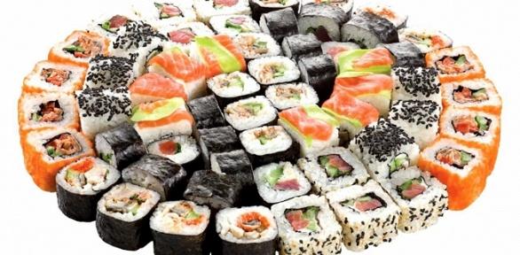 Суши-сет отслужбы доставки готовых блюд Sonkei заполцены