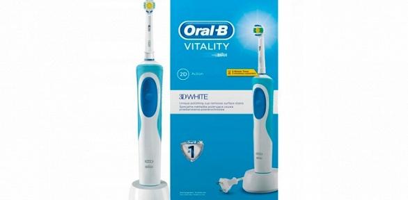 Зубная электрощетка Oral-B, комплект издвух насадок