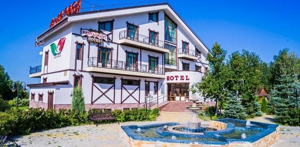 Отдых напобережье реки Белой для двоих вкурортном отеле «Алая роза»
