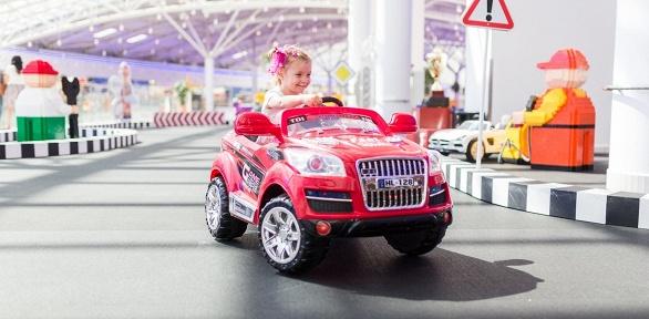 Входной билет спрокатом автомобилей вдетском автогородке «Детки рулят»