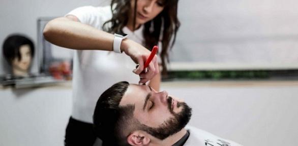 Мужская стрижка истрижка бороды вBarbershop 1371