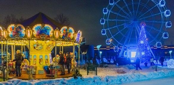 Билет напосещение зимних аттракционов всемейном парке Skazka