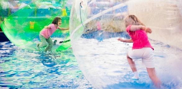 Посещение аттракциона «Водный шар» откомпании «Прыгающий мячик BrincBoll»