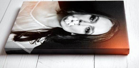 Печать портрета пофото нахолсте, фотомозаика
