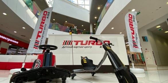 Заезды надетских электрокартах вкартинг-центре Turbo Kids