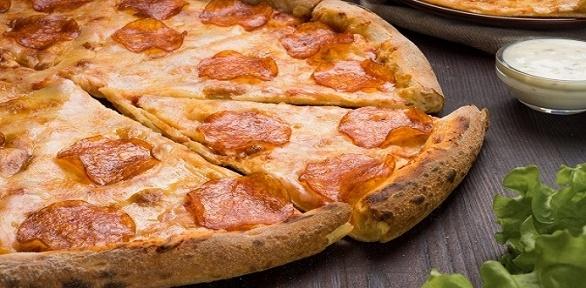 Весь ассортимент пиццы, закусок отонлайн-пиццерии «Слайс пицца» заполцены