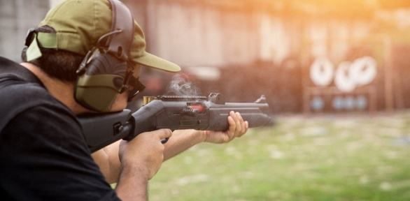 25выстрелов изогнестрельного оружия вСК«Гвардейский»
