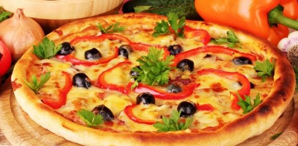 Пицца впиццерии Italian Pizza заполцены