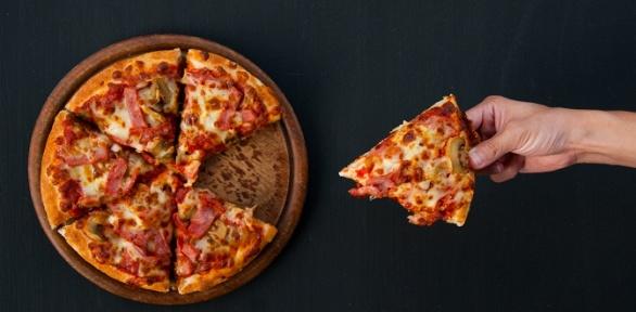 Пицца вкафе House Mafia заполцены
