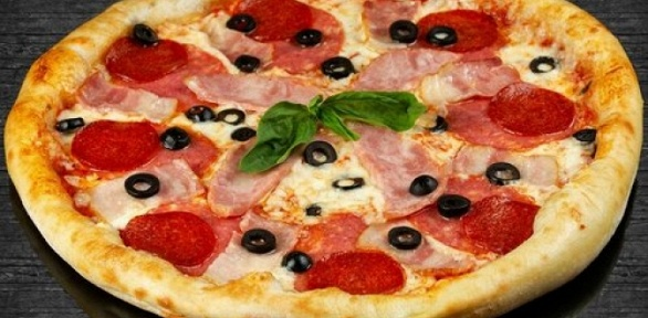 Все пиццы диаметром 33см отслужбы доставки еды «Мясорубка» заполцены