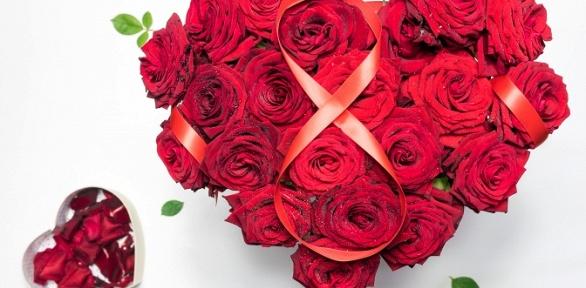 Цветочная композиция или до 25 эквадорских или российских роз в букете
