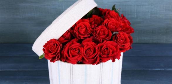 Букет изроз, ирисов или гербер либо корзина цветов