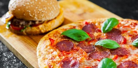 Всё меню отслужбы доставки Lava Pizza заполцены