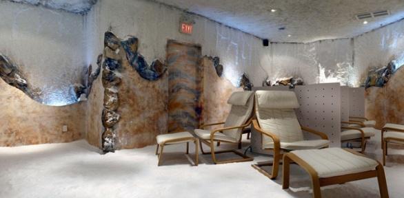 Посещение соляной пещеры вцентре «Вдохни здоровье»