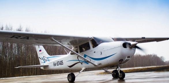 Полет насамолете Cessna 172 для трех человек отавиаклуба PiterPolet
