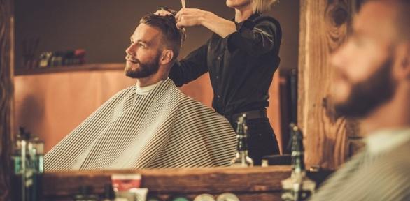 Стрижка, коррекция бороды вбарбершопе «Папа дома»