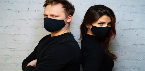 До10многоразовых черных масок изплотного хлопка