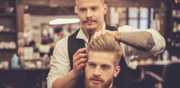 Мужская идетская стрижка, моделирование бороды отLionBros Barbershop