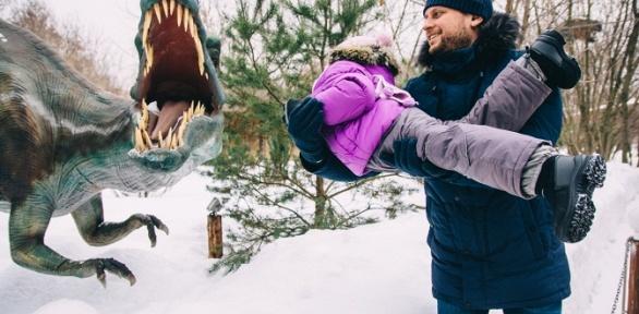 Билет напосещение «Динопарка» и«Ice-парка» всемейном парке Skazka