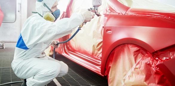 Покраска деталей автомобиля вавтосервисе Olimp Autoservice