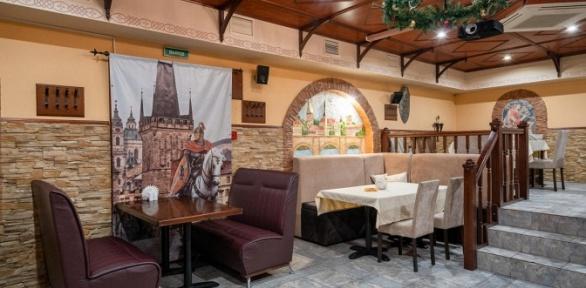 Всё меню и напитки в пивном ресторане «Вацлав»