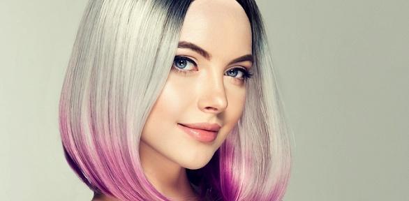 Стрижка, выпрямление волос всалоне «Аура»