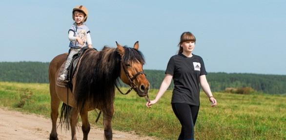 Конная прогулка или обучение верховой езде вкомплексе «Белая лошадь»