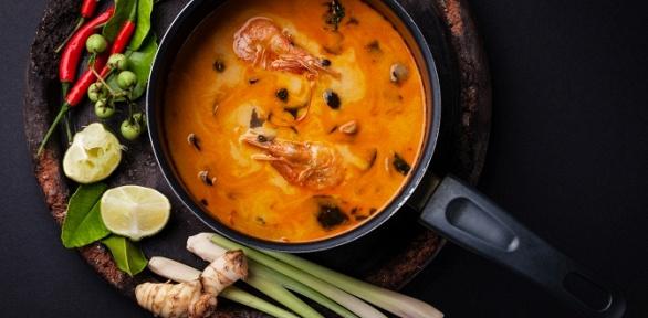 Блюда инапитки втайском ресторане Baan Thai заполцены